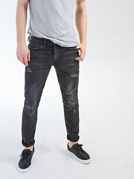 Picture of SERVANDO LICORICE BLACK WASH TROUSERS