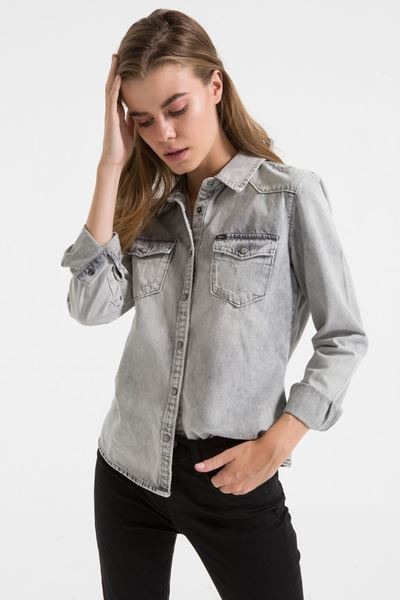 Picture of LUCINDA SWEET GREY WASH SHIRT
