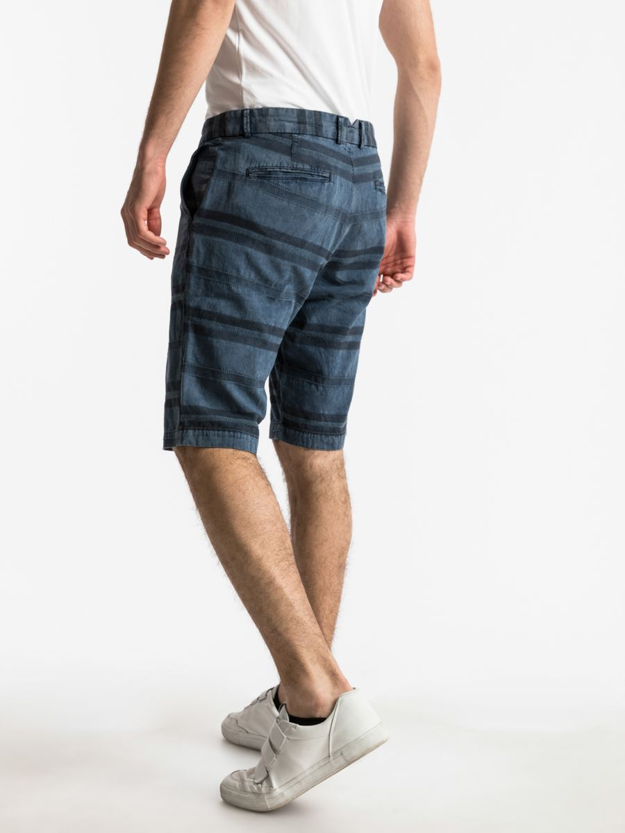 Picture of COREY DARK INDIGO WASH BERMUDA
