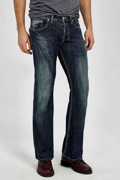Picture of TINMAN DARK BLUE USED WASH TROUSERS