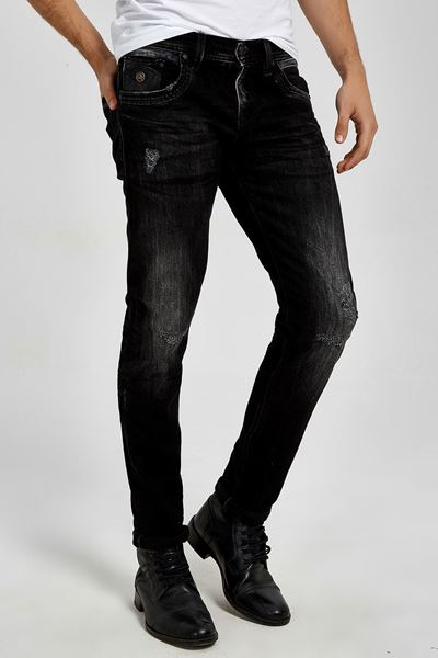Picture of HERMAN GLEEN BLACK WASH TROUSERS