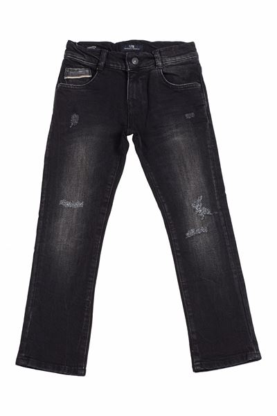 Picture of COOPER B GLEEN BLACK WASH TROUSERS