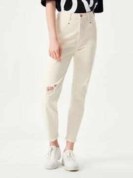 Picture of ARLIN X NATUREL DAMAGED WASH TROUSERS